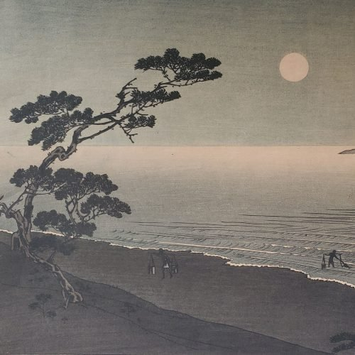 Arai Yoshimune - Suma Beach at Night (Featured square)