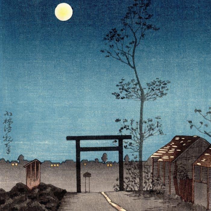 Kobayashi Kiyochika - Taro-inari Shrine at Asakusa (featured square)