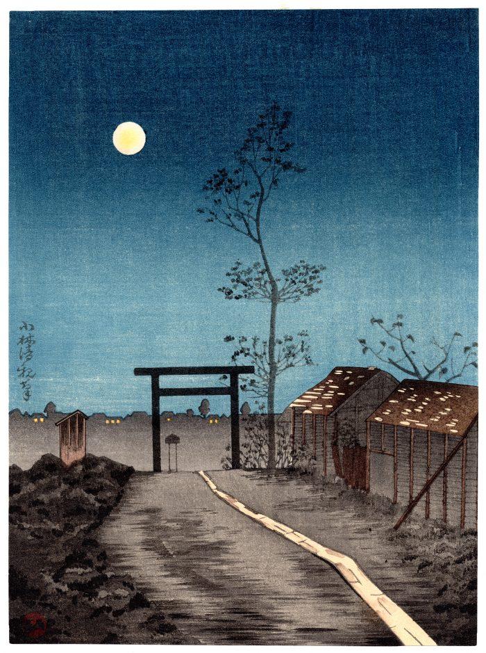 Kobayashi Kiyochika - Taro-inari Shrine at Asakusa