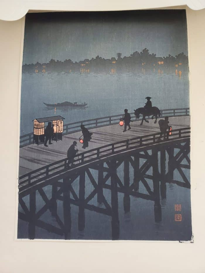 Shoda Koho - Ohashi Bridge at Atako (under original matting)