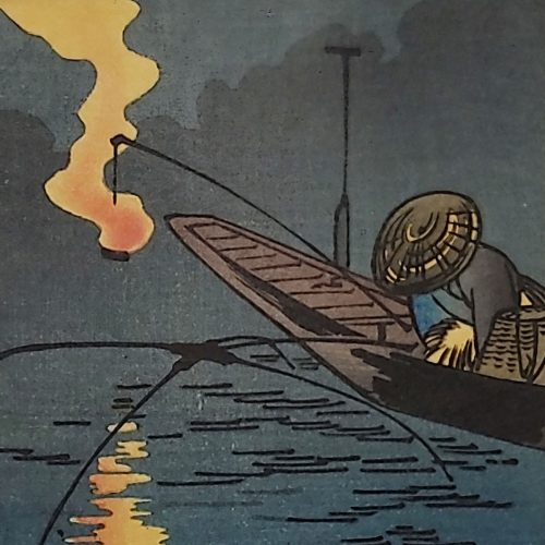 Utagawa Hiroshige - Fisher and Fire (featured square)