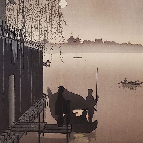 Eijiro Kobayashi - Evening Cool on Sumida (sepia) (featured square)