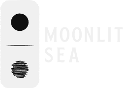 Moonlit Sea Prints logo invert