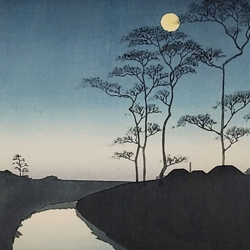Shoda Koho - A Country Scene (with Moon) featured square