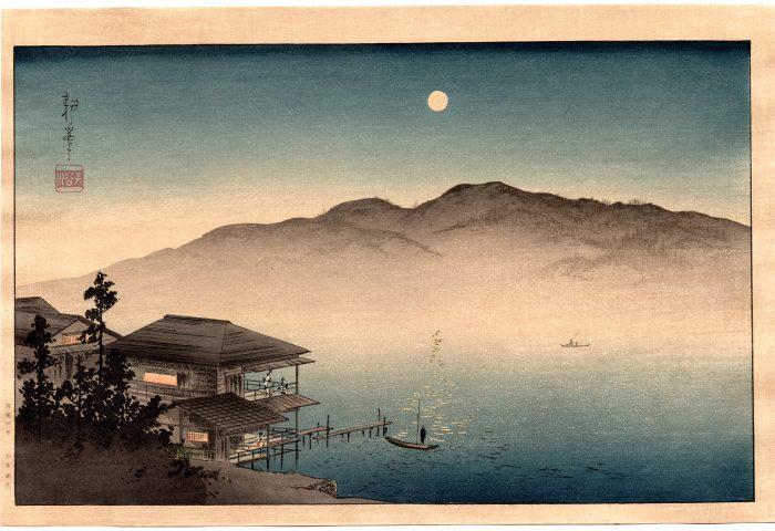 Shoda Koho – Moon over Waterfront House (full)