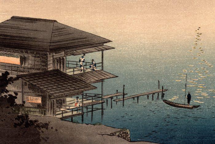 Shoda Koho - Moon over Waterfront House (detail 1)
