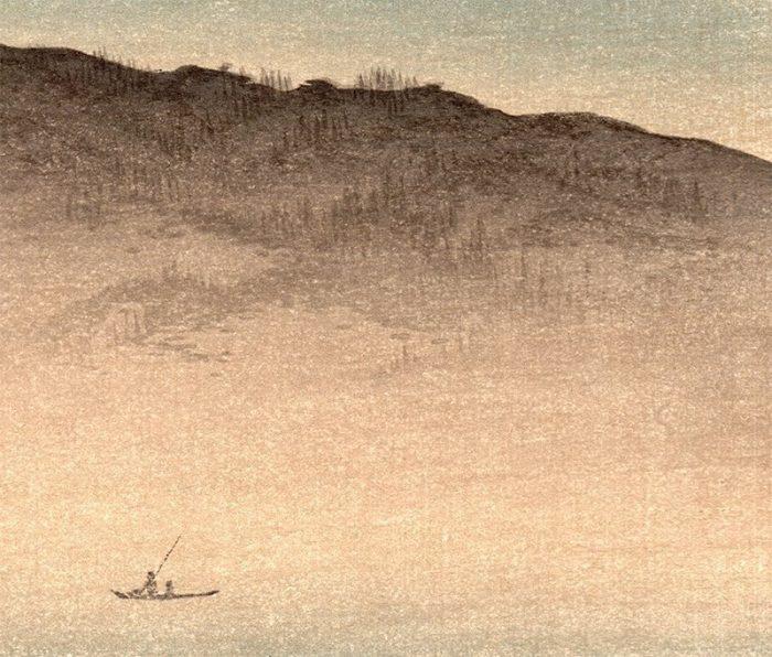 Shoda Koho - Moon over Waterfront House (detail 2)