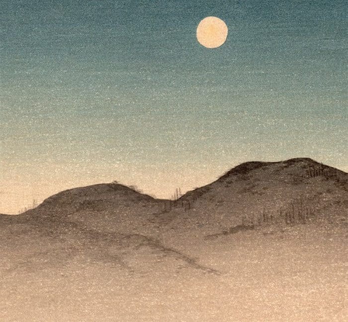 Shoda Koho - Moon over Waterfront House (detail 3)