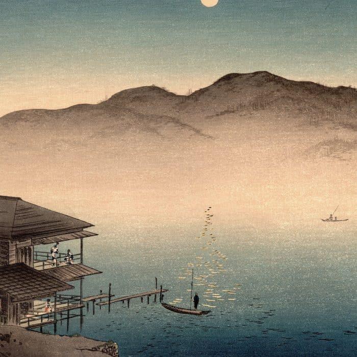 Shoda Koho – Moon over Waterfront House (featured)