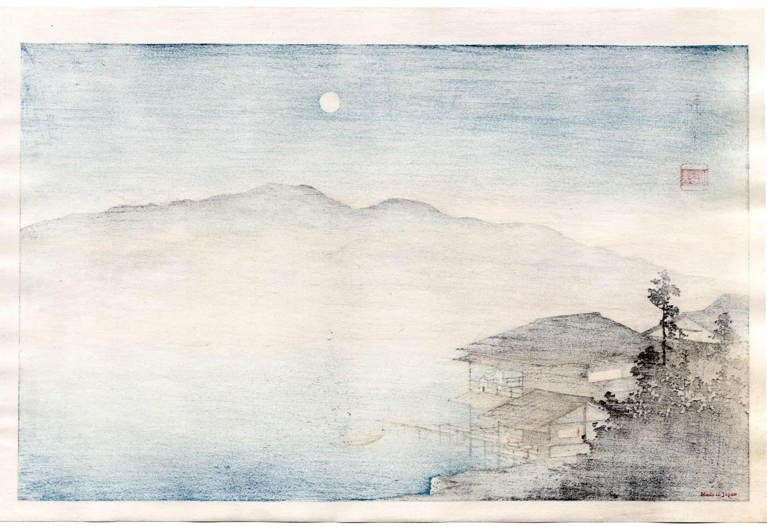 Shoda Koho – Moon over Waterfront House (verso)