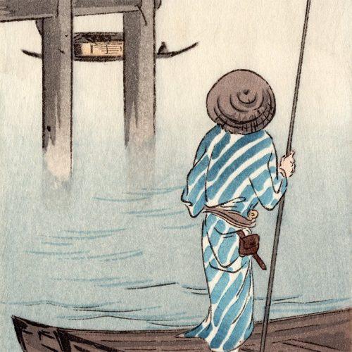 Shoda Koho - Woman on a High Bridge (featured)