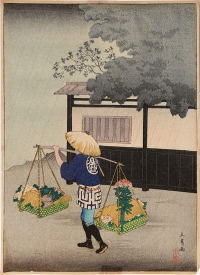 Shotei - Flower Seller on a Rainy Day (standard edition)