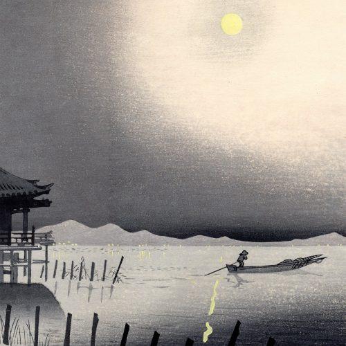 Tomikichiro Tokuriki - Biwa Lake at Night (featured)