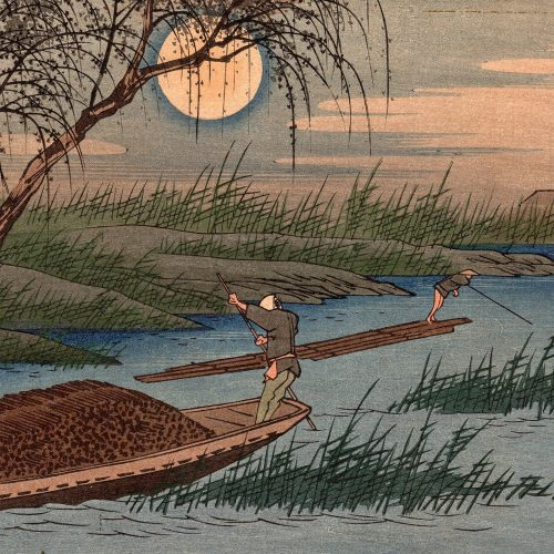 Utagawa Hiroshige - No. 32, Seba, from the series The Sixty-nine Stations of the Kisokaidô Road (featured)