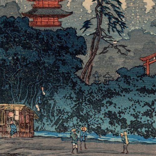 Hiroaki Takahashi (Shotei) - Shrine by the River (featured)