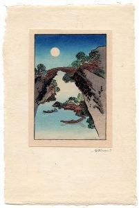 Katsushika Hokusai - Bridge and the Moon (full)