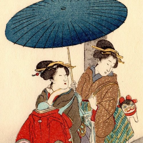 Shoda Koho - Two Geisha and Torii (featured)
