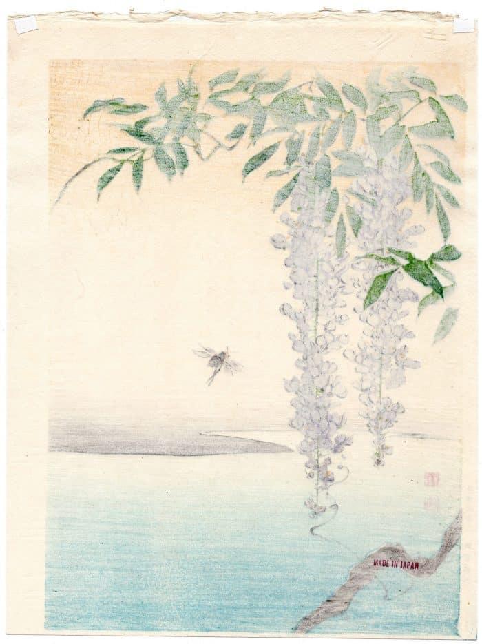 Shoda Koho - Wisteria & a Bee (verso)