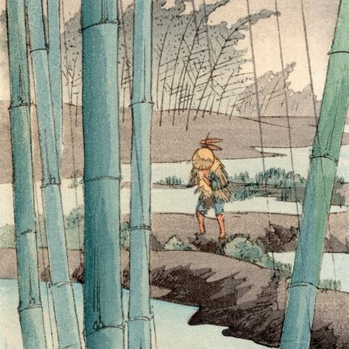 Yoshimoto Gesso - Bamboo Forest in the Rain (featured)