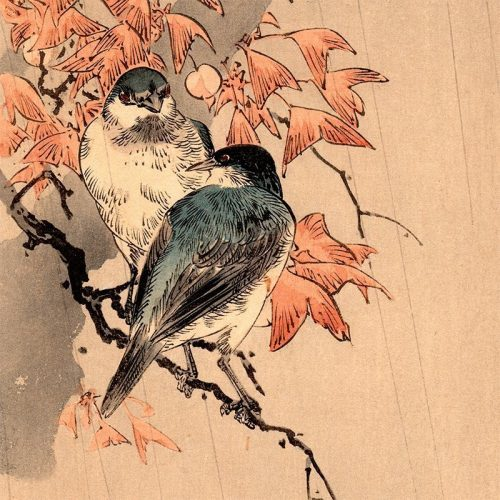 Yoshimoto Gesso - Bluebirds in Rain (featured)