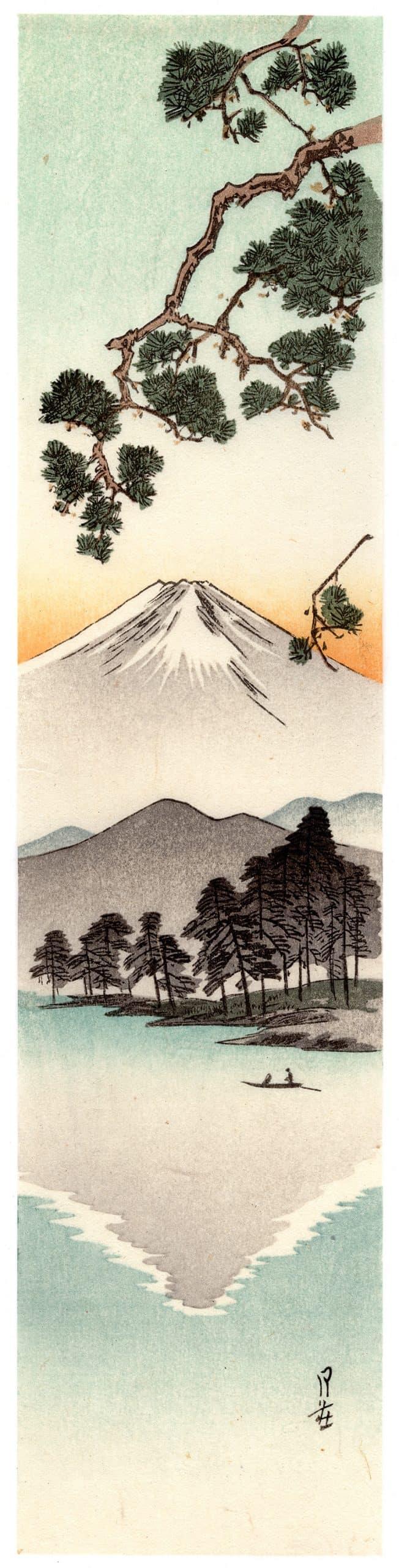 Yoshimoto Gesso - Mt. Fuji and its Reflection