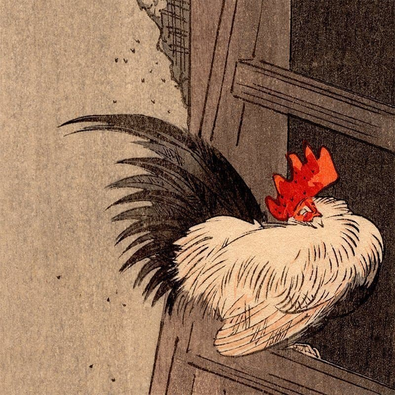 Yoshimoto Gesso - Rooster and a Hen (featured)