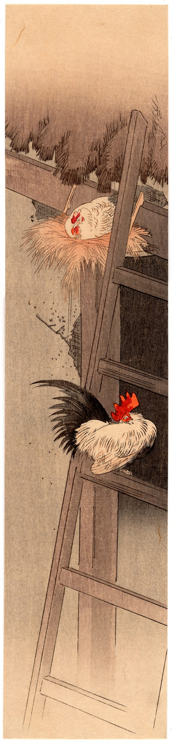 Yoshimoto Gesso - Rooster and a Hen