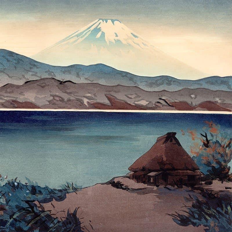 Yoshimoto Masao - Mt. Fuji From Lake Hakone (featured)