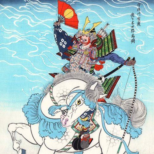 Hasegawa Sadanobu III - Horse Warrior Sasaki Takatsuna (featured)