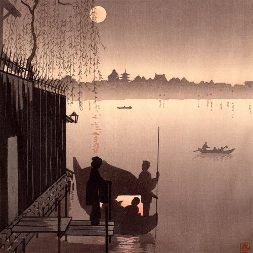 Eijiro Kobayashi - Evening Cool on Sumida (sepia) (featured)