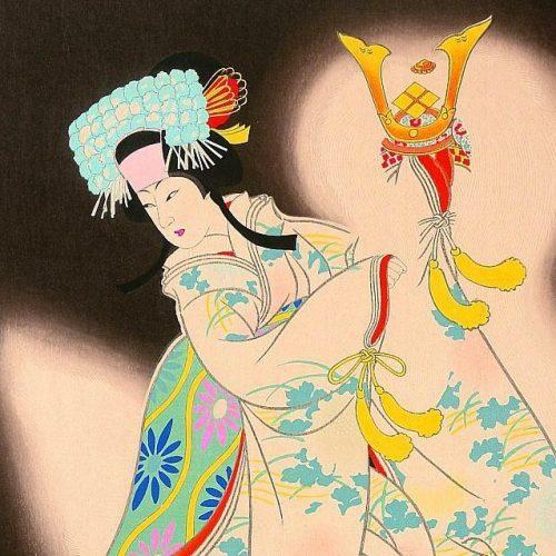Hasegawa Sadanobu III - Princess Yaegaki (framed) (featured)
