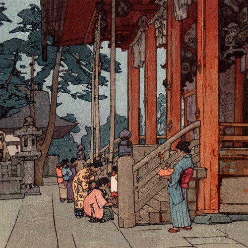 Hiroshi Yoshida - Yasaka Shrine (featured)