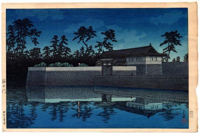 Kawase Hasui - Sakurada Gate (Twenty Views of Tokyo)