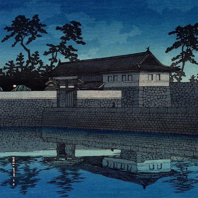 Kawase Hasui - Sakurada Gate (Twenty Views of Tokyo) (featured)