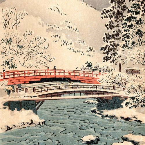Kobayashi Kiyochika - Shinkyō Bridge (featured)