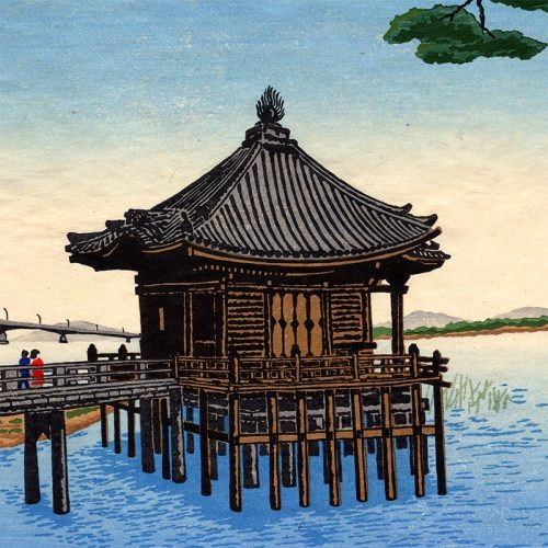 Toyohisa Inoue - Floating temple at Katata (featured)