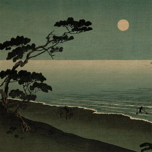 Arai Yoshimune - Suma Beach at Night (featured)
