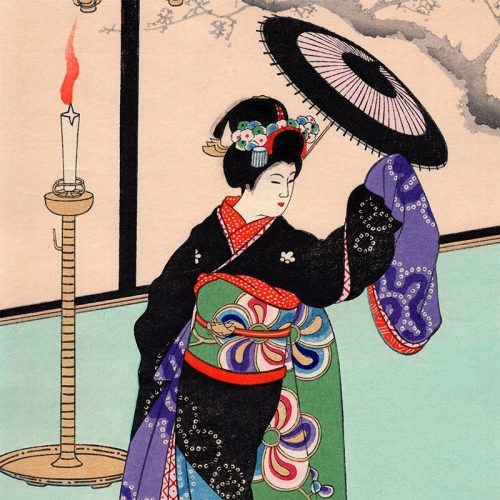 Hasegawa Sadanobu III - Maiki Girl, Dancing (featured)