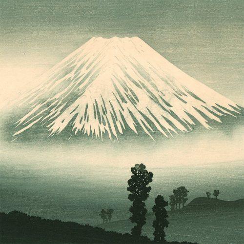 Hiroaki Takahashi (Shotei) - Mt Fuji in Mist (mountain pass in front) (featured)
