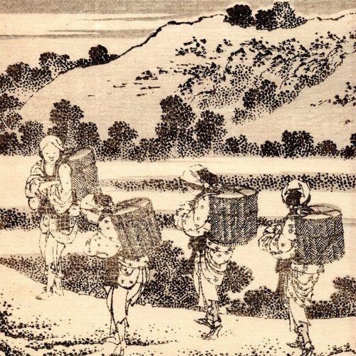 Katsushika Hokusai - 100 Views from Mt Fuji from Hokusai manga (featured)