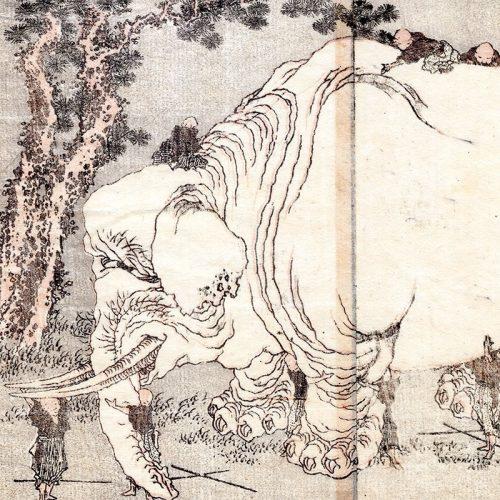 Katsushika Hokusai - Elephant from Hokusai manga (featured)