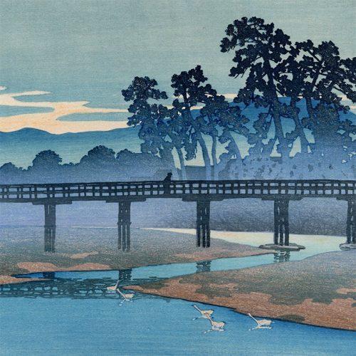 Kawase Hasui - Asano River in Kanazawa (Pre-Earthquake) (featured)