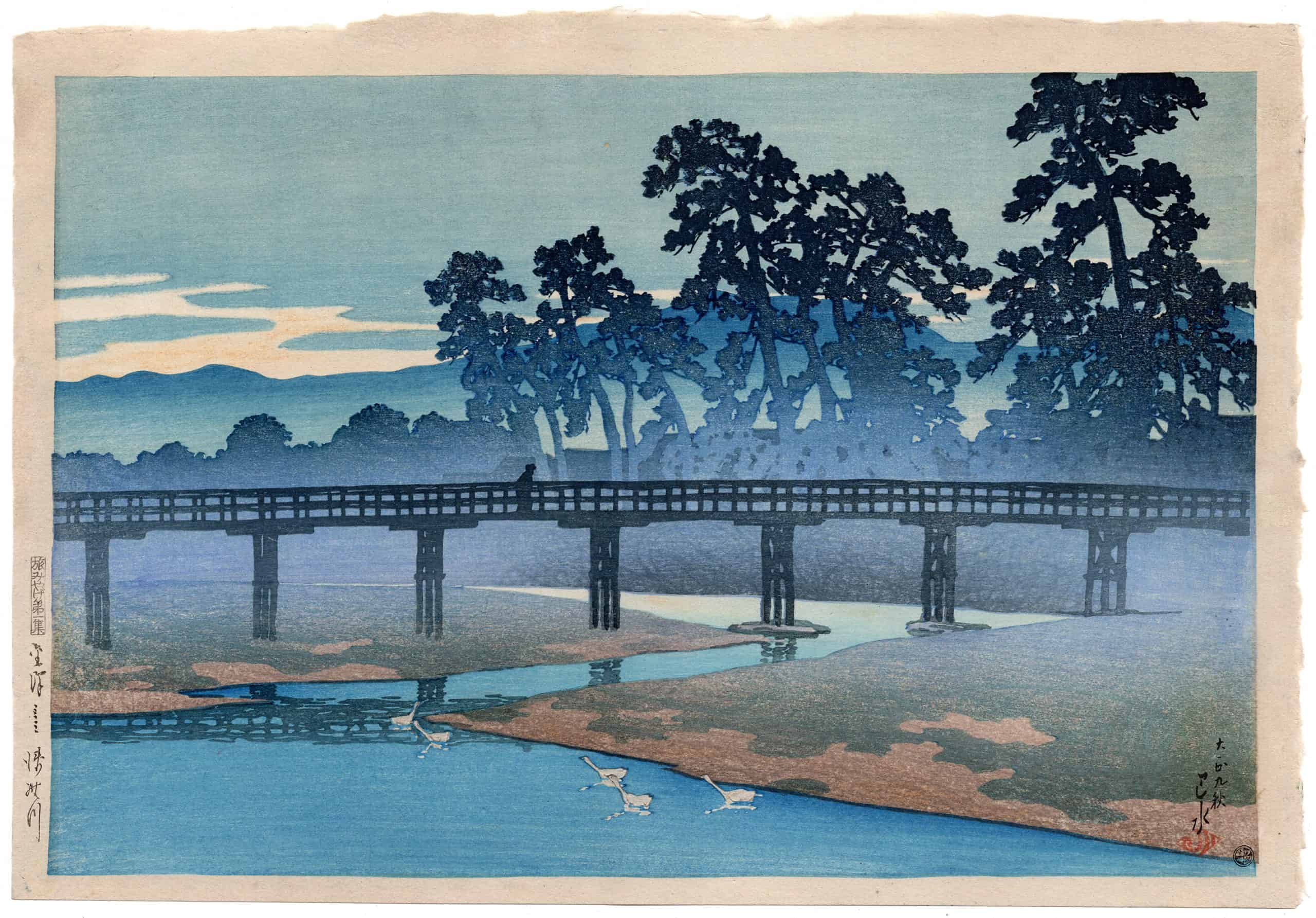 Kawase Hasui - Asano River in Kanazawa (Pre-Earthquake)