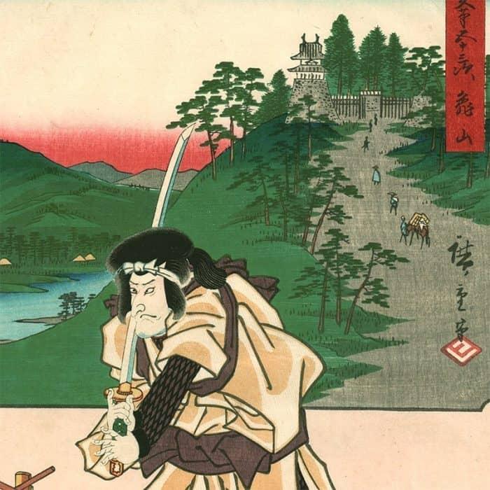 "The 53 Stations by Two Brushes - Sohitsu Gojusan Tsugi ""Kameyama"" (featured)"