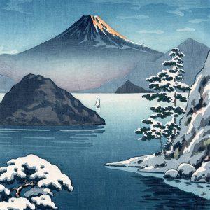 Tsuchiya Koitsu - Fuji from Mitsuhama (Mito) in Snow (featured)