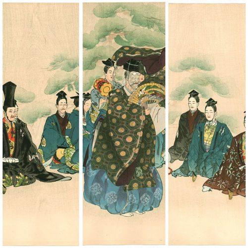 "Tsukioka Kogyo - Okina, from the series ""One Hundred Noh Dramas (Nogaku hyakuban)"" (featured)"