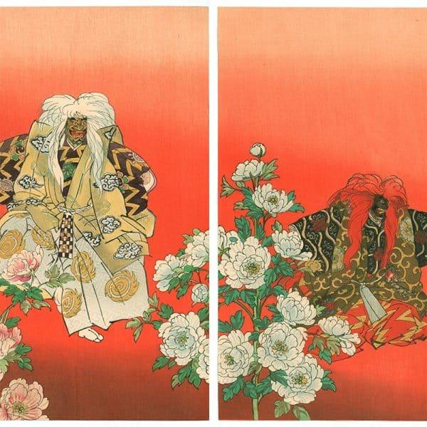 """Tsukioka Kogyo - Shakkyo, from the series """"One Hundred Noh Dramas (Nogaku hyakuban)"""" (featured)"""