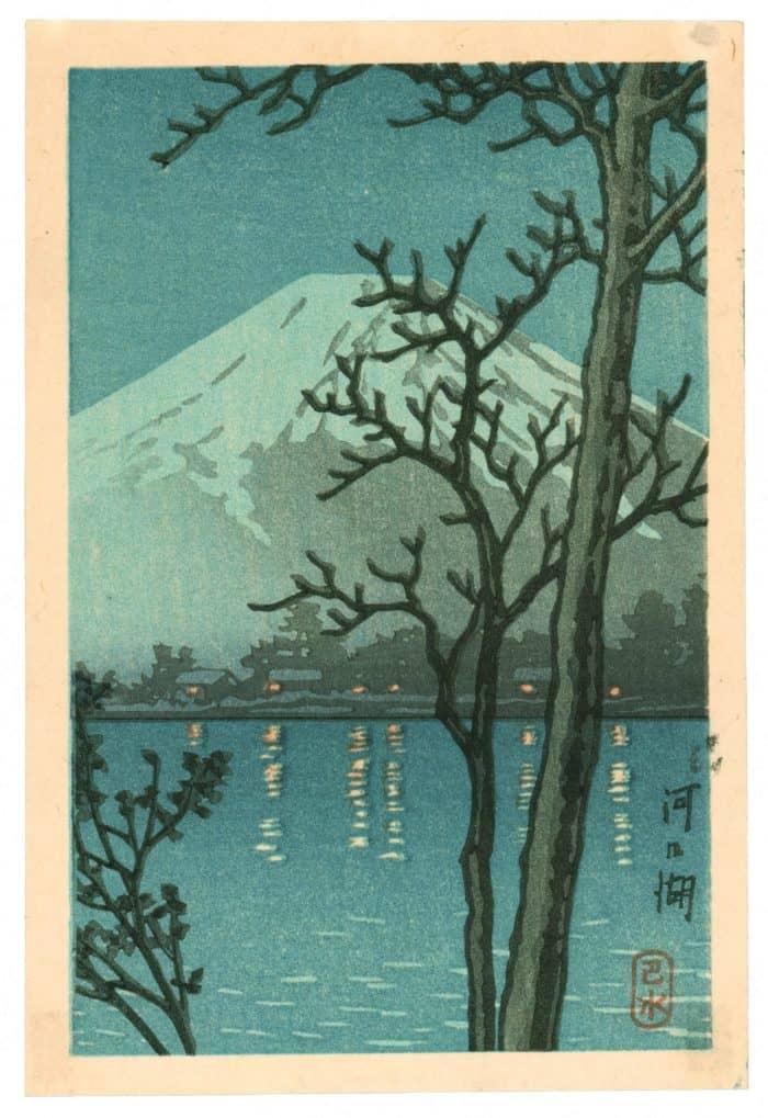 Kawase Hasui - Lake Kawaguchi