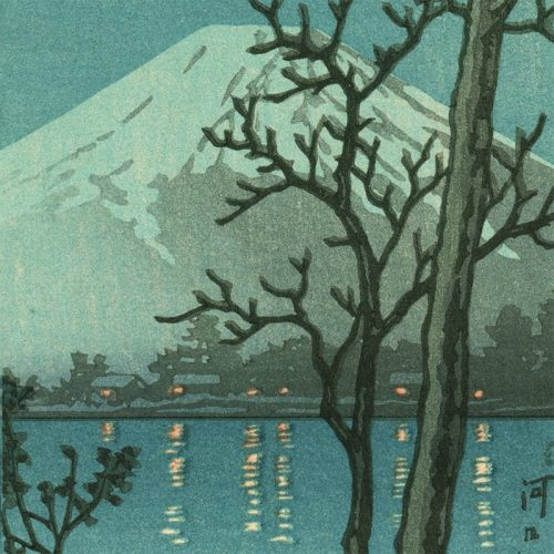 Kawase Hasui - Lake Kawaguchi (featured)