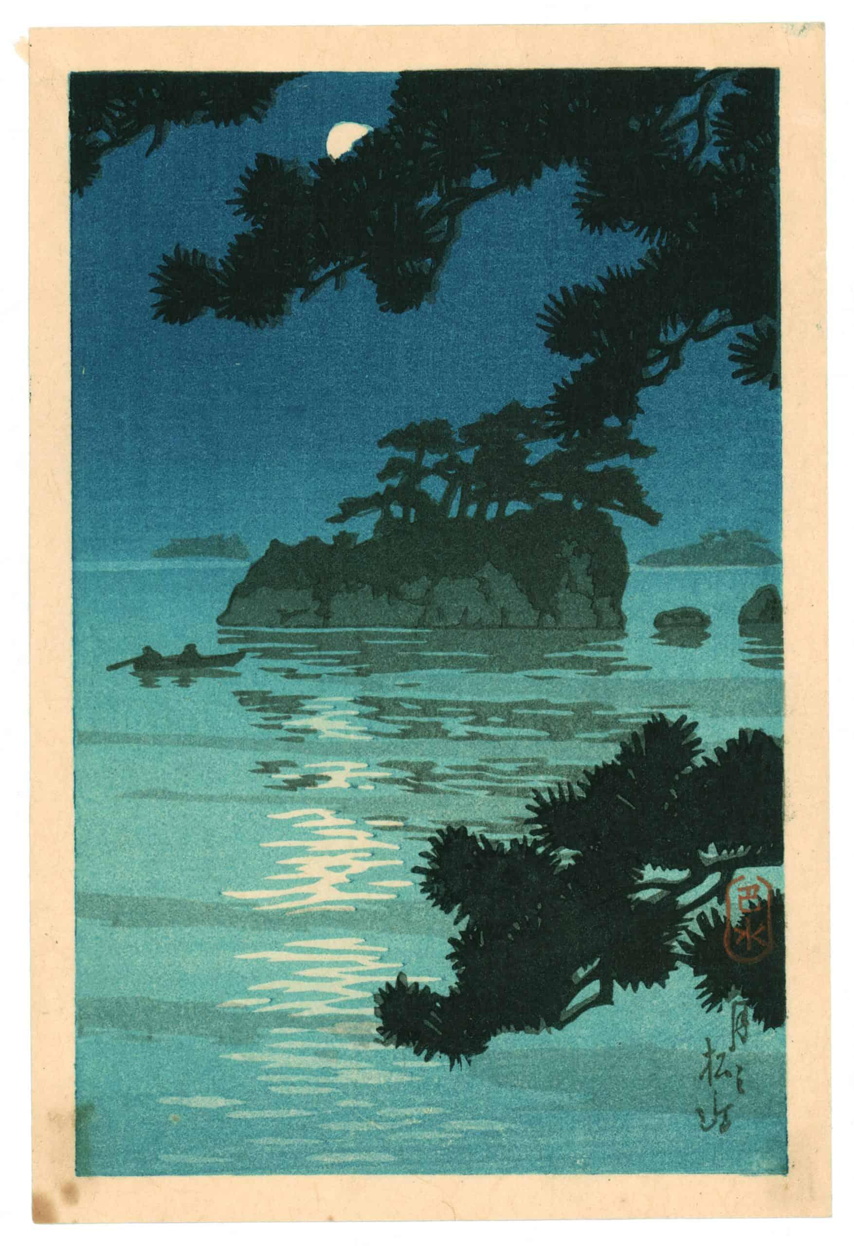 Kawase Hasui - Moon at Matsushima